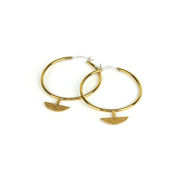 Claire Green Jewelry Caravan Hoops