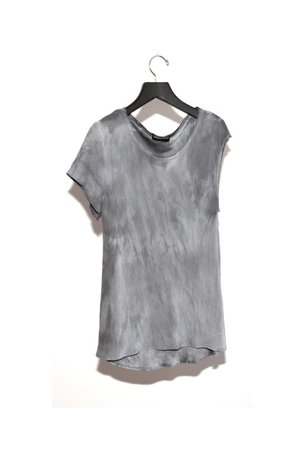 Single Sleeve Silk T Shirt