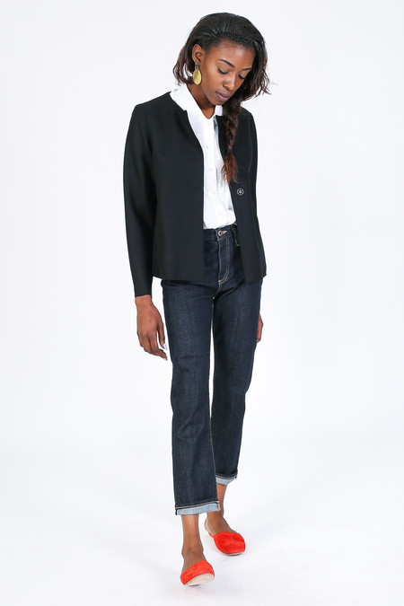 Harris Wharf London Boxy Jacket in Black