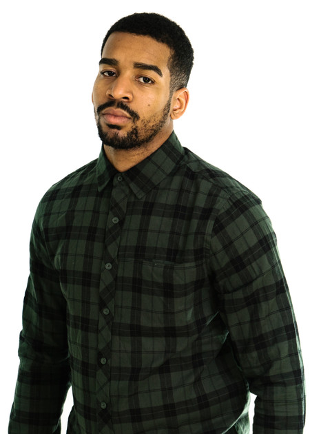 Native Youth Broad Check Shirt (Olive)