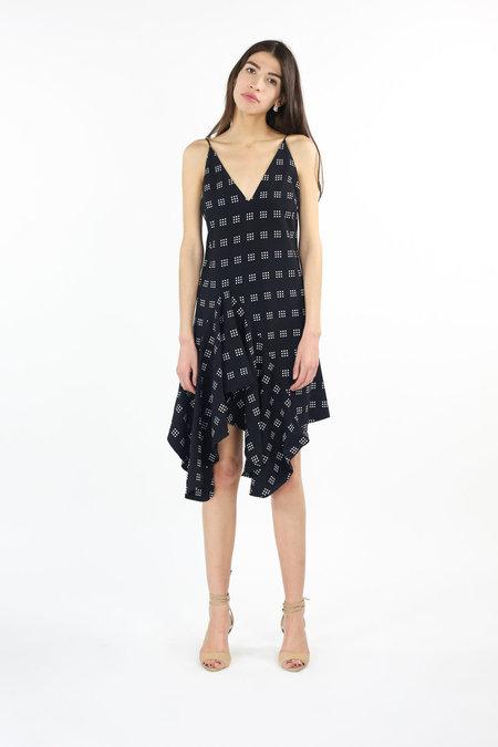 C/MEO Spelt Out Dress - Black Square Dot