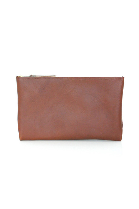 ARA Handbags Clutch No. 3 Tobacco Oil Tanned