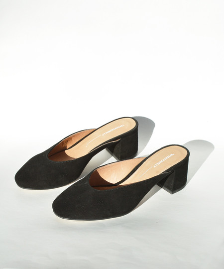 Intentionally Blank Daisy Black Suede