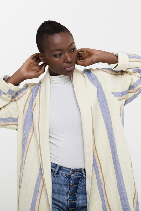 Osei-Duro Theca Coat in Handwoven Party