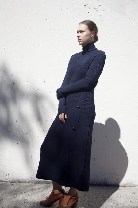 Caron Callahan Izola Sweater Dress in Navy