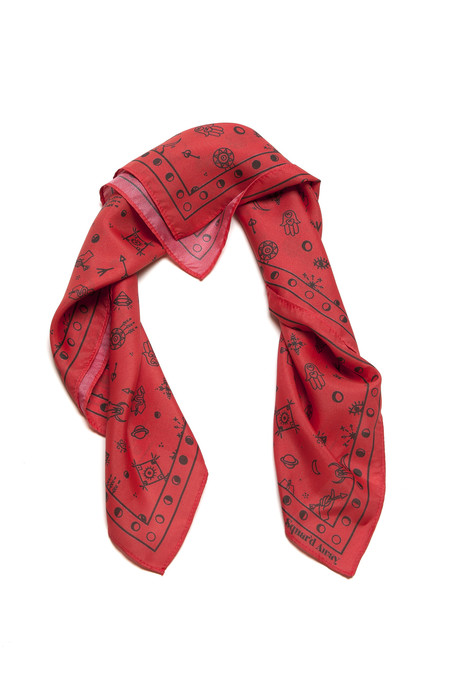Squar'd Away The Amulet Scarf, red