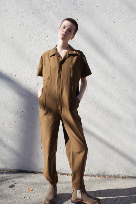 Caron Callahan Crawford Jumpsuit in Cognac