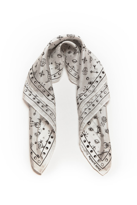 Squar'd Away The Amulet Scarf, white