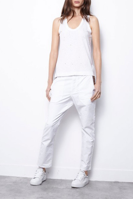 Zadig & Voltaire Deep Holes Tank - Blanc