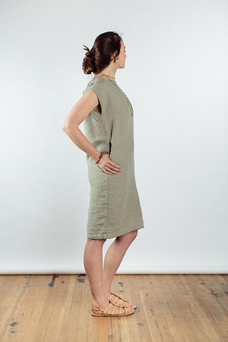 back slit open dress