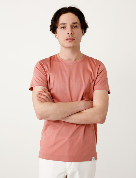 Norse Projects Esben Blind Stitch SS Fusion Pink
