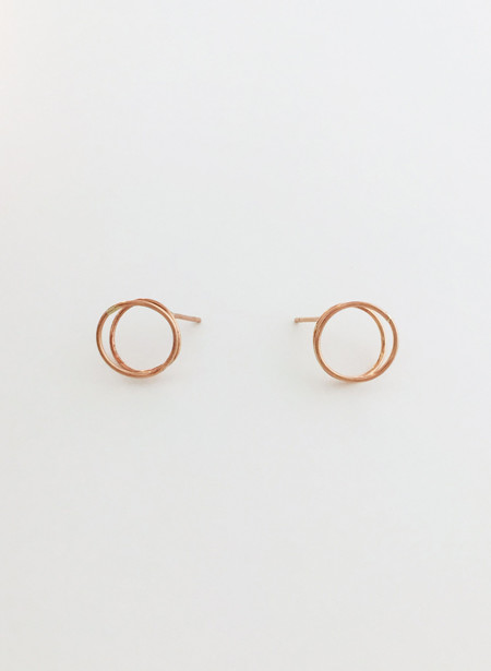 Rachel Gunnard Rose Gold Lobe Earings