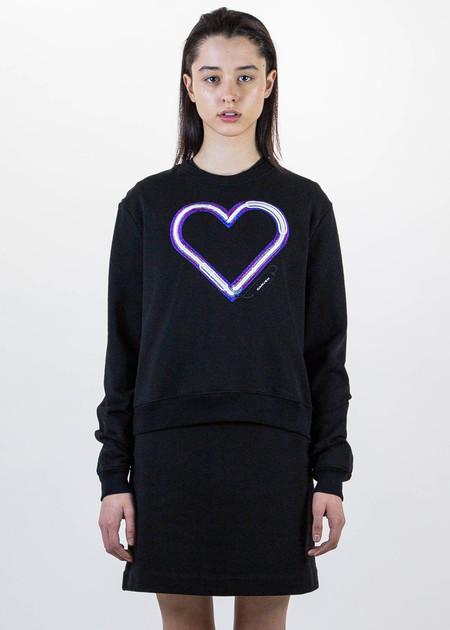 Carven Black Heart Sweater
