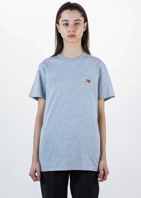 Maison Kitsune Light Grey Fox Patch T-Shirt