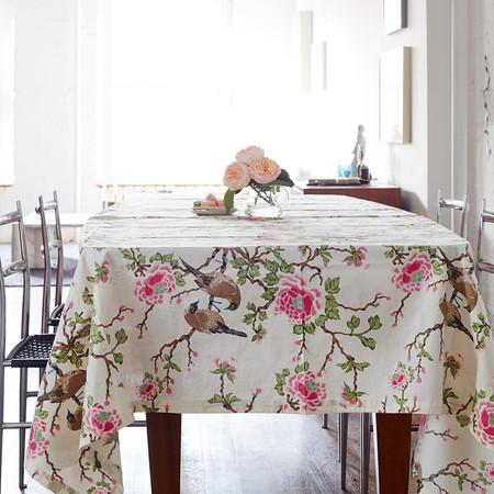 Erica Tanov lovebird tablecloth