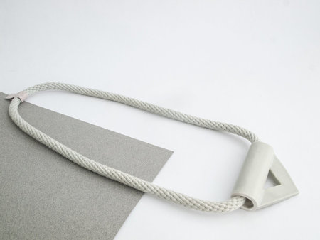 YYY gray triangle necklace