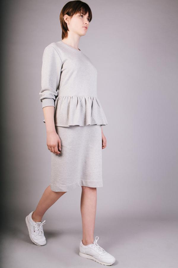 Peter Jensen Grey Marl Frill Dress