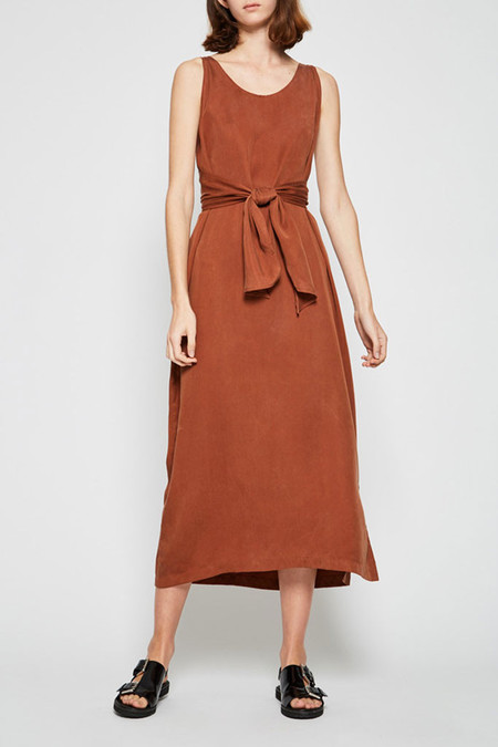 Shaina Mote Tie Dress - Clay