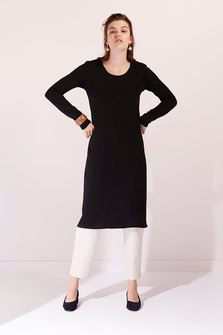 KOWTOW Building Block Long Sleeve Dress in Black