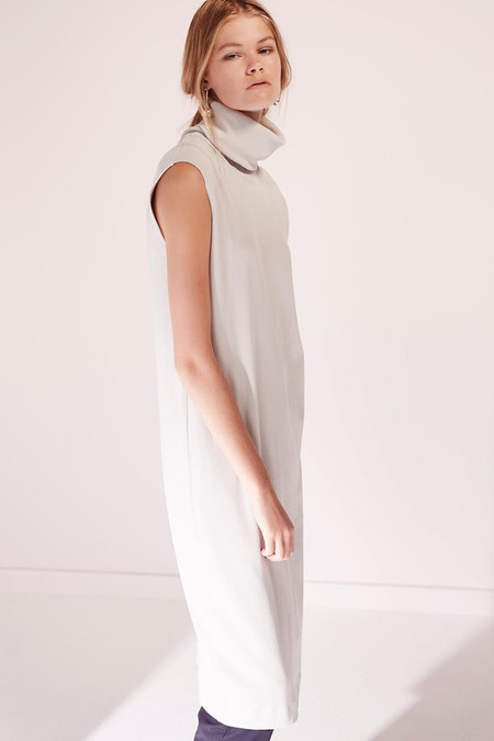 KOWTOW Building Block Roll Neck Dress in Ivory