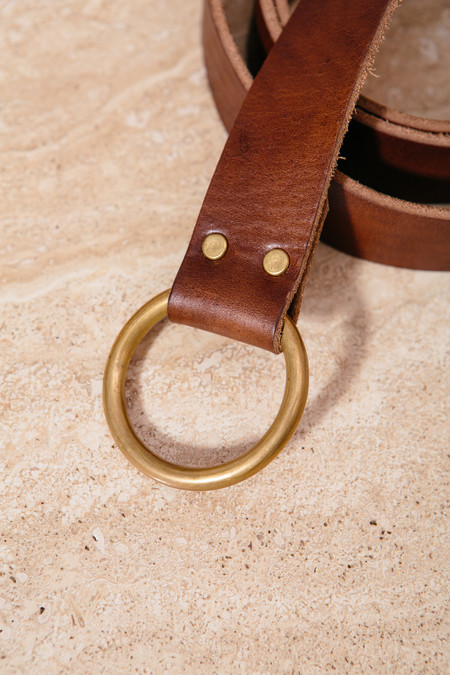 Emil Erwin Walnut Wrap Belt