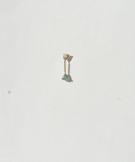 Wwake Small Two-Step Chain Earring