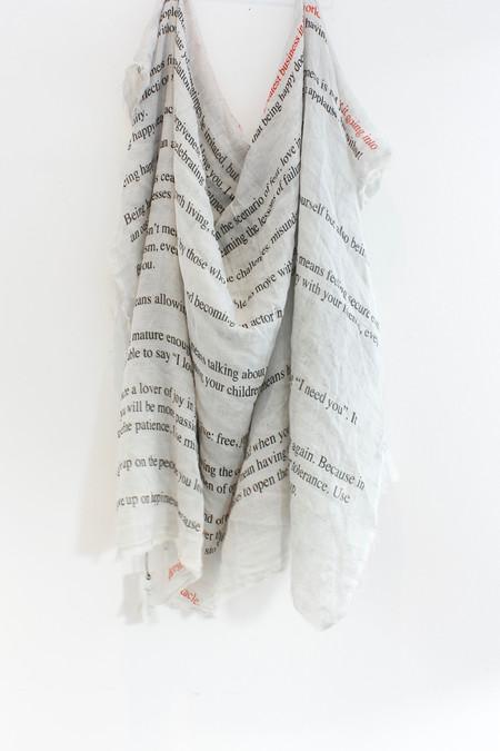 Faliero Sarti The Letter scarf