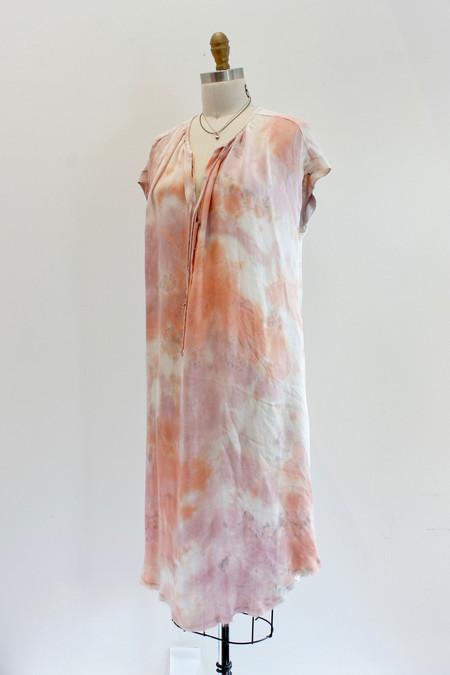 Raquel Allegra Shirred Combo Dress in Rose
