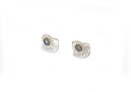 BAUXO SCENE SILVER EARRINGS WITH MOONSTONE