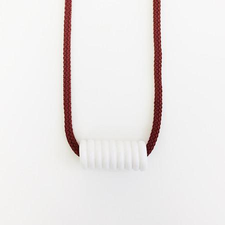 Aubrey Hornor Maroon Cord Coil Necklace