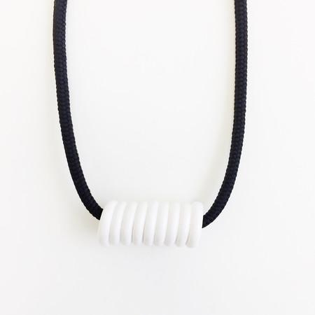 Aubrey Hornor Black Cord Coil Necklace