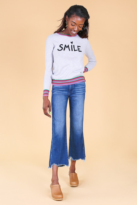 Chinti and Parker Smile Sweater in Grey