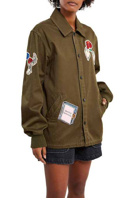 Opening Ceremony Gestures Coach Jacket | Army Green