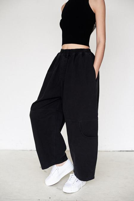 69 Cotton Knee Pocket Pant - Black