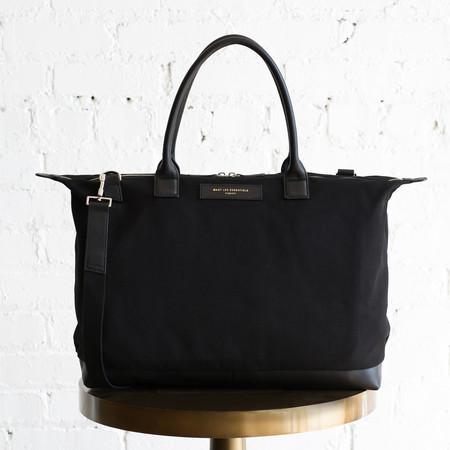 Want Les Essentials Lindberg Shoulder Tote Black Canvas