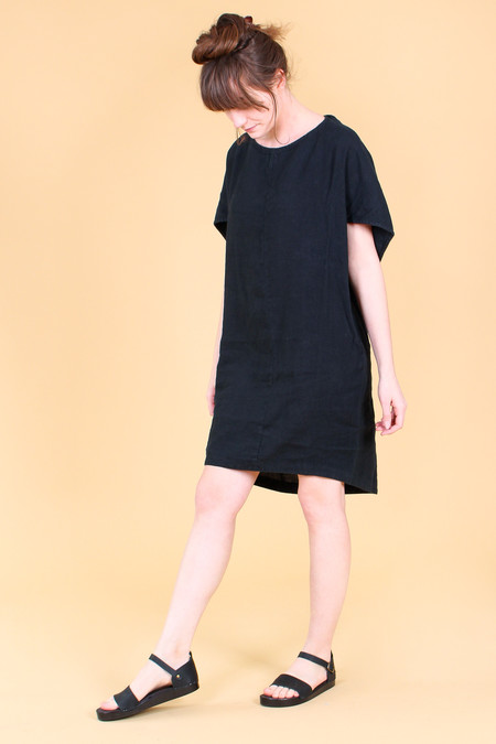 Black Crane Geometric Dress in Black