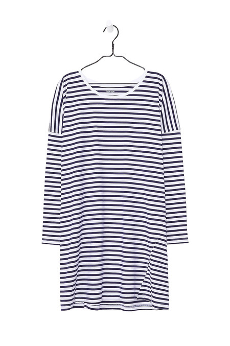 Kowtow Oversized Dress - Blue White Stripe
