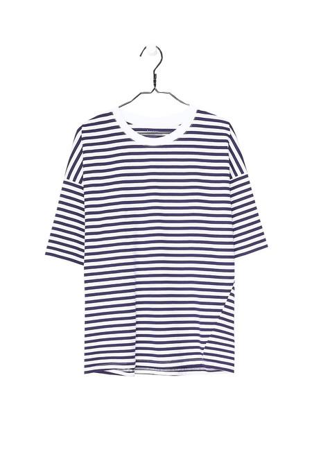 Kowtow Tall Tee - Blue White Stripe