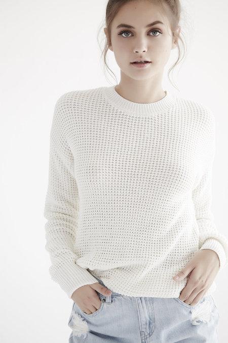 Callahan Waffle Boyfriend Sweater
