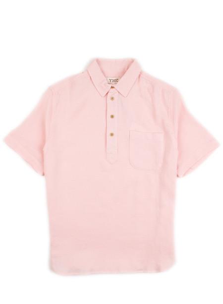 YMC - 3 Button Polo Pink