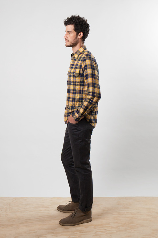 Bridge & Burn Davie Yellow Indigo Plaid
