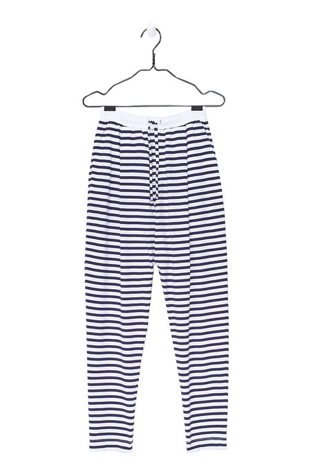 Kowtow Lounge Pant - Blue White Stripe