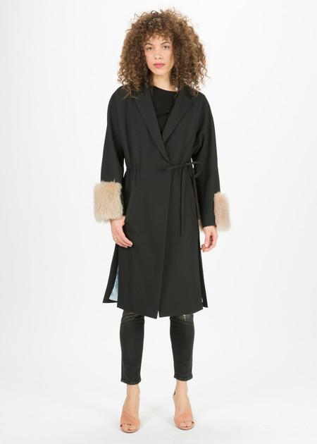 Anne Vest Honey Fur Cuff Coat