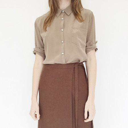 ARE Studio - Sand Silk Top