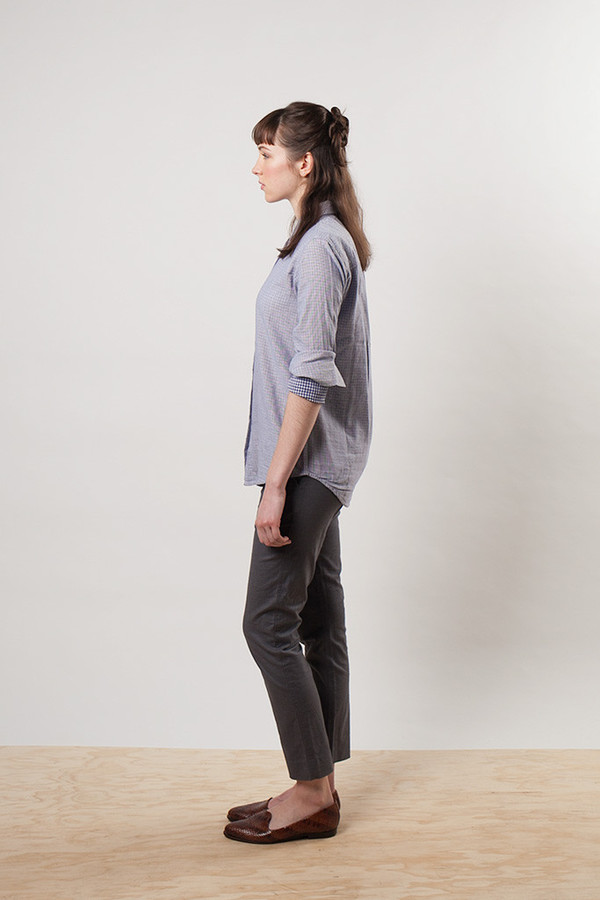 Bridge & Burn Market Trouser Grey Linen