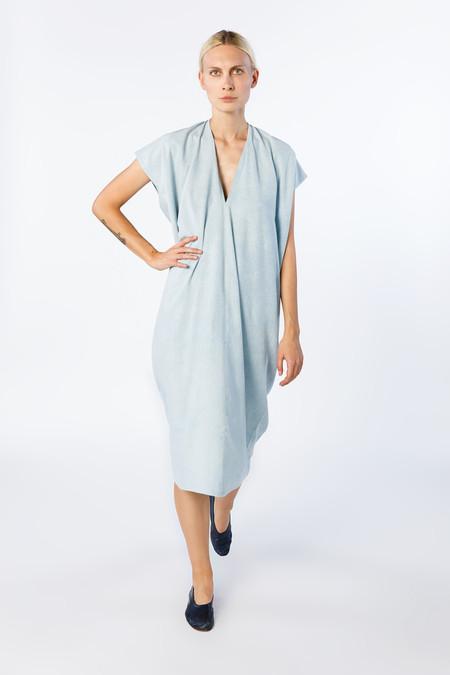Miranda Bennett In-Stock: Everyday Dress - Silk Noil in Light Indigo