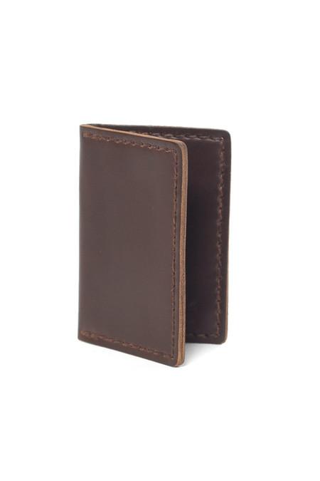 Wood&Faulk Front Pocket Wallet Dark Brown
