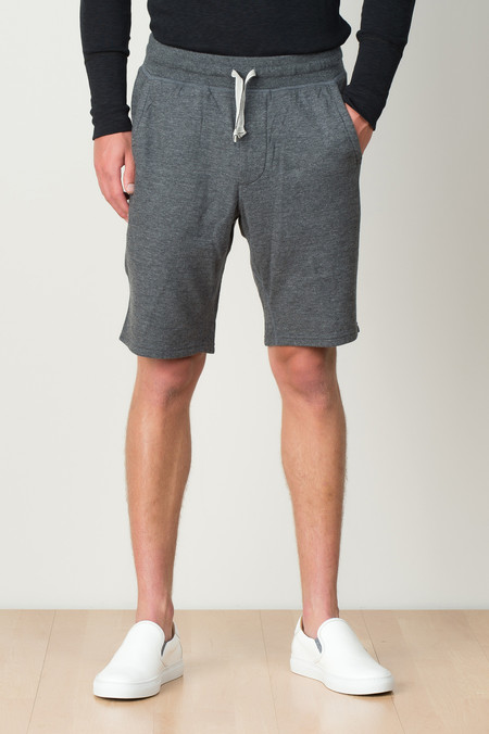 Wings + Horns Double Knit Short In Charcoal