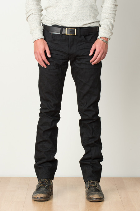 RRL Slim Fit In Black On Black
