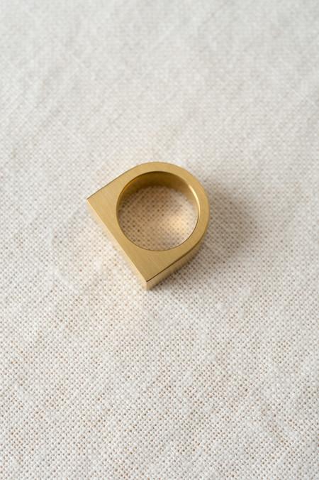 Marmol Radziner Short Slab In Brass